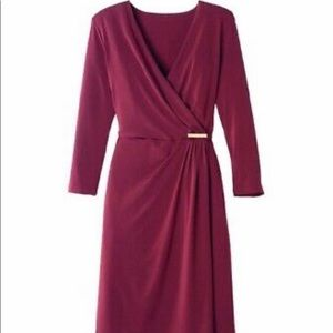 NEW Avon Bordeaux faux wrap dress size small New without tags